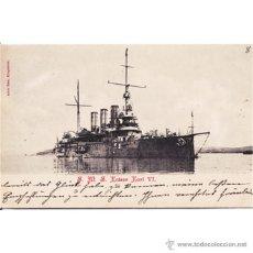 Postales: BARCO CRUCERO GUERRA ALEMAN KAISER KARL VI ALOIS BEER EDITOR 1900. Lote 50001990