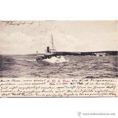 Postales: BARCO PLUTO EDICION ALOIS BEER 1901. Lote 50002091