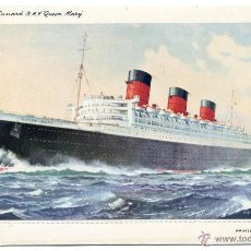 Postales: CUNARD, R.M.S. QUEEN MARY. LETTER CARD. NUEVA, SIN USAR. Lote 50447932