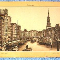 Postales: LAMINA DE HAMBURGO, ALEMANIA - REIMERS FLEET ( FLOTA DE REIMERS ). AÑOS 30 ORIGINAL, DE 21 X 16 CMS.. Lote 50466233