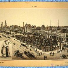 Postales: LAMINA DE HAMBURG, HAMBURGO, ALEMANIA, SAN PAULI - AÑOS 30 ORIGINAL - DE 21 X 16 CMS.. Lote 50468945
