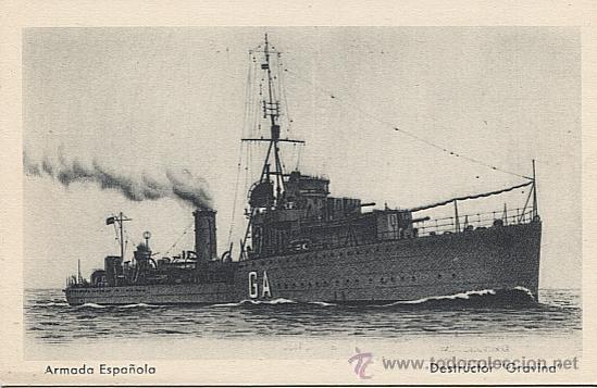 X113633 ARMADA ESPANOLA BARCO DE GUERRA DESTRUCTOR GRAVINA (Postales - Postales Temáticas - Barcos)