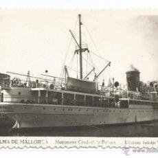 Postales: PALMA DE MALLORCA Nº 16 .- MOTONAVE CIUDAD DE PALMA .- EDICIONES ANTONIO VICH. Lote 51090832