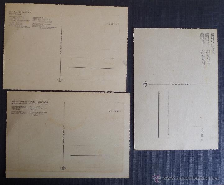 Postales: lote de 3 postales de Barcos de Guerra Holandesas. Ver fotos y comentarios - Foto 2 - 51201820
