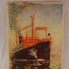 Postales: PALATIAL PRESIDENT LINERS. NAVIERA. LÍNEAS ORIENTALES Y DEL MUNDO.. CIRCULADA EN 1925. PUBLICIDAD. B. Lote 51572720