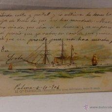 Postales: GENERAL ZARAGOZA. MÉXICO. CIRCULADA 1904. REVERSO SIN DIVIDIR. ACORAZADO. CRUCERO. FRAGATA. BUQUE. . Lote 51573038