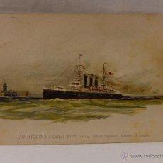 Postales: L'O'HIGGINS. CHILE. CIRCULADA 1907. REVERSO SIN DIVIDIR. ACORAZADO. CRUCERO. FRAGATA. BUQUE. BUQUES. Lote 51573114