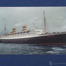 Postales: POSTAL BARCO DE PASAJE S.S NIEUW AMSTERDAM HOLLAND AMERICA LINE. Lote 51603645