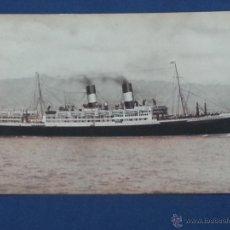 Postales: POSTAL BARCO PASAJE GIULIO CESARE LINEAS NAVIGAZIONE GENERALE ITALIANA MEDITERRANEO-SUD AMERICA. Lote 51603798