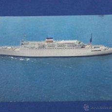 Postales: POSTAL BARCO PASAJE S S ATLANTIC AMERICAN EXPORT ISBRANDTSEN LINES. Lote 51603907