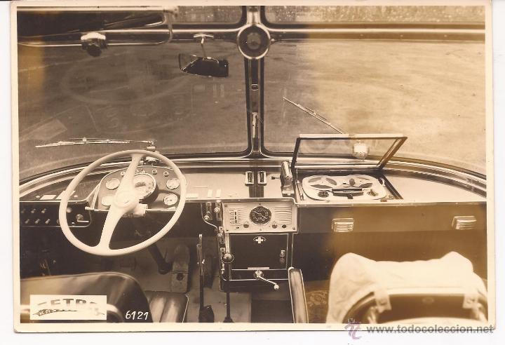 FOTO INTERIOR DE AUBOSUS AÑOS 60' (Postales - Postales Temáticas - Barcos)