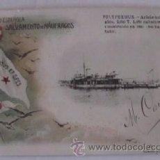Postales: POLYPHEMUS - SOCIEDAD ESPAÑOLA DE SALVAMENTO DE NAUFRAGOS - AÑO 1903. Lote 51635924