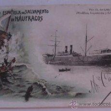 Postales: PIO IX - SOCIEDAD ESPAÑOLA DE NAUFRAGOS - AÑO 1903. Lote 51636331
