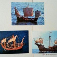 Postales: LOTE 3 POSTALES NAVES DEL DESCUBRIMIENTO - TRAVESIA 1991 - 5 CENTENARIO. Lote 51778106
