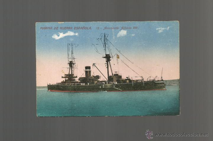 ACORAZADO ALFONSO XIII MARINA DE GUERRA ESPAÑOLA ED JVB POSTAL (Postales - Postales Temáticas - Barcos)