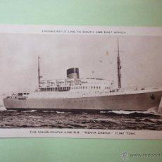 Postales: THE UNION CASTLE LINE S.S. KENYA CASTLE. 17,041 TONS.. Lote 51994366