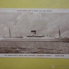 Postales: THE UNION CASTLE ROYAL MAIL STEAMER. EDINBURGH CASTLE. 28,705 TONS.. Lote 51995550