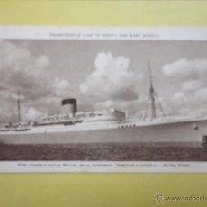 Postales: THE UNION CASTLE ROYAL MAIL STEAMER. PRETORIA CASTLE. 28,705 TONS.. Lote 51995702