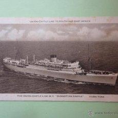 Postales: THE UNION CASTLE LINE M.V. DUNNOTTAR CASTLE. 15,054 TONS.. Lote 51997467