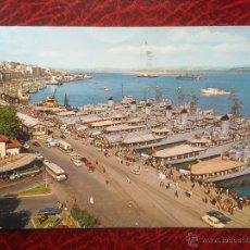 Postales: POSTAL SANTANDER LA BAHIA BARCOS ARMADA SEMANA NAVAL CIRCULADA. Lote 52989229