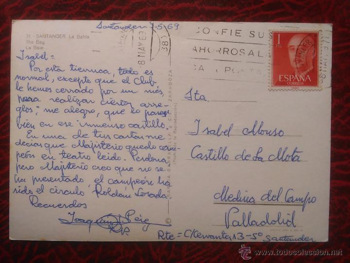 Postales: POSTAL SANTANDER LA BAHIA BARCOS ARMADA SEMANA NAVAL CIRCULADA - Foto 2 - 52989229