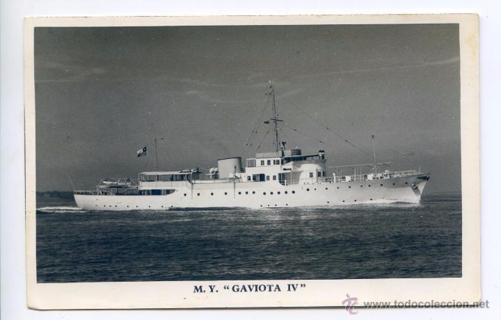 M Y. GAVIOTA IV, GRAN YATE CONSTRUIDO EN LOS AÑOS 30 (Postales - Postales Temáticas - Barcos)