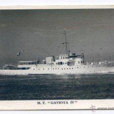 Postales: M Y. GAVIOTA IV, GRAN YATE CONSTRUIDO EN LOS AÑOS 30. Lote 53046804