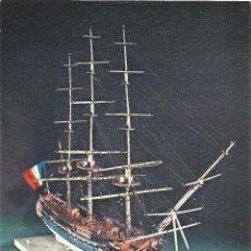 Postais: == PP149 - LAMINA - MUSEO NAVAL - MODELO EN MARFIL DE LA FRAGATA FRANCESA LA CREOLLE - 23 X 16,5 CM.. Lote 53470632
