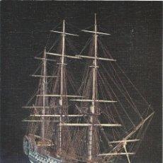 Postales: == PP153 - LAMINA - MUSEO NAVAL - MODELO EN MARFIL DE UN NAVIO DE TRES PUENTES - 23 X 16,5 CM.. Lote 53470748