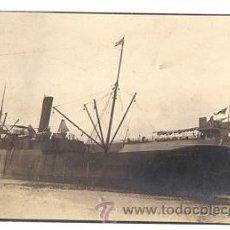 Postales: TARJETA POSTAL FOTOGRAFICA BUQUE ARMADO MERCANTE INGLES. CIRCA 1910. Lote 54637983
