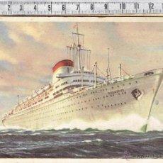 Postales: POSTAL MOTONAVE AUGUSTUS-SOCIETA DI NAVIGAZIONE-GENOVA-ITALIA-1964.. Lote 54711812