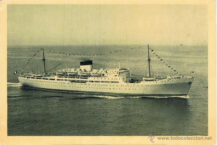 GENERAL MANGIN PAQUET TRASATLANTICO CRUCERO (Postales - Postales Temáticas - Barcos)