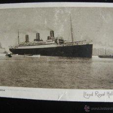 Postales: S.S. LIMBURGIA DE LA LLOYD ROYAL HOLLANDAIS DE 1922.. Lote 54989128