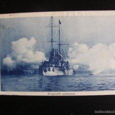 Postales: BUQUE KRIEGSSCHIFF SALUTIRREND. CIRCULADA EN 1910. Lote 55138160