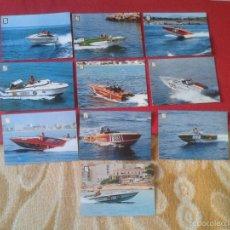 Postales: LOTE COLECCION DE 10 POSTALES SERIE MOTONAUTICA FISA ESCUDO DE ORO. BARCOS LANCHAS. VER. POSTCARD.. Lote 55335065