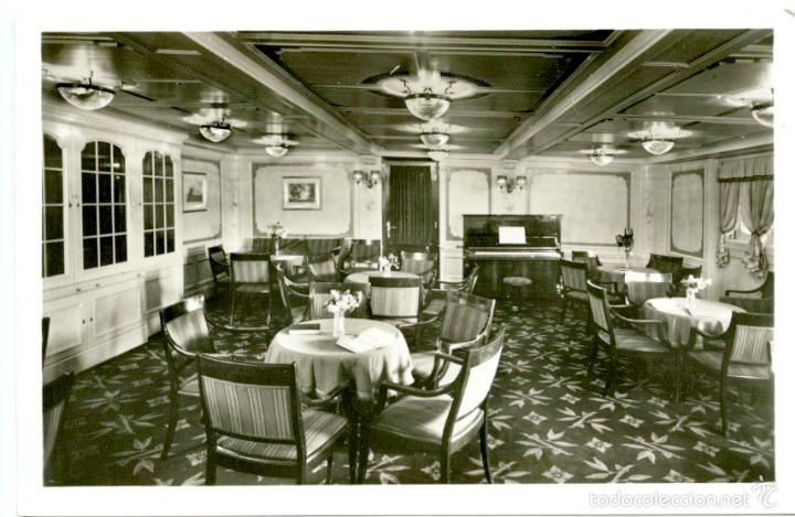 Postales: 4 tarjetas postales del buque Stuttgart II de la Norddeutscher Lloyd de Bremen, 1920s. Barcos - Foto 3 - 55700274