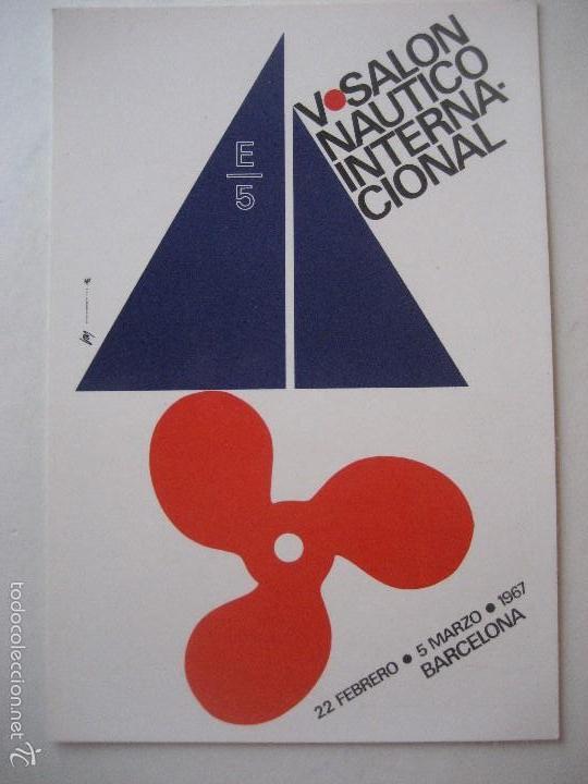 BARCELONA. V SALON NAUTICO INTERNACIONAL. 1967. (Postales - Postales Temáticas - Barcos)