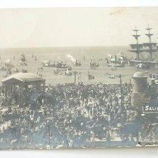 Postales: SALIDA DEL VELERO LA NAUTILUS. POSTAL FOTOGRÁFICA. ORIGINAL. AÑOS 1900S. Lote 58421318