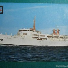 Postales: POSTAL - BARCOS - COMPAÑIA TRANSMEDITERRANEA - VICENTE PUCHOL - FOTOGRAFIA INDUSTRIAL - ESCRITA. Lote 58432223