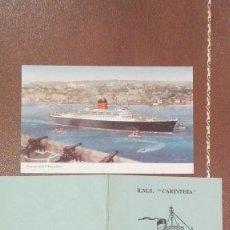 Postales: POSTAL DEL BARCO CARINTHIA DE CUNAR E ITINERARIO DE SALIDAS 1965. Lote 60009543