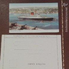 Postales: POSTAL Y CARTA DEL BARCO CARINTHIA DE CUNARD. Lote 60009611
