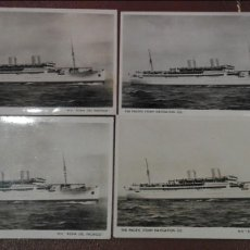 Postales: LOTE DE 4 POSTALES DEL BARCO REINA DEL PACIFICO. Lote 60009963