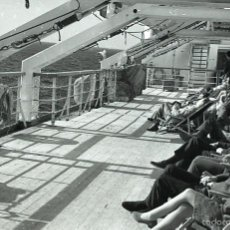 Postales: NEGATIVO BARCO SS PATRICIA SWEDISH LLOYD CUBIERTA 1966 KODAK 35MM PHOTO SHIP FOTO. Lote 60247799