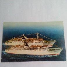 Postales: POSTAL DE BARCOS CANGURO CABO SAN SEBASTIAN IBARRA Y CIA .S.A. SEVILLA. Lote 60841019
