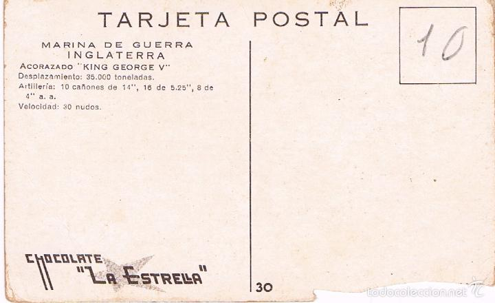 Postales: MARINA DE GUERRA INGLATERRA. ACORAZADO KING GEORGE V. - Foto 2 - 60958195