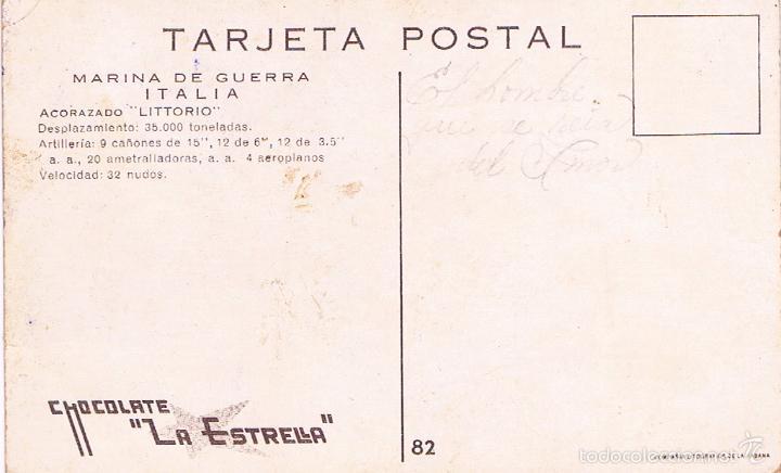 Postales: MARINA DE GUERRA ITALIA. ACORAZADO LITTORIO. - Foto 2 - 60958247