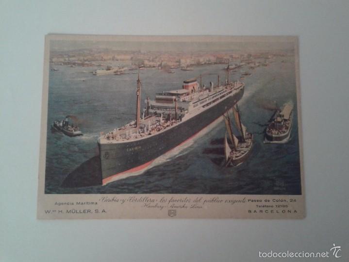 POSTAL BARCO AGENCIA MARITIMA MÜLLER (Postales - Postales Temáticas - Barcos)