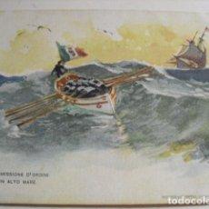 Postales: TRASMISSIONE D'ORDINI IN ALTO MARE. Lote 61432311