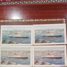 Postales: 5 CARTAS Y 1 POSTAL DEL BARCO CARINTHIA DE CUNARD. Lote 61940092