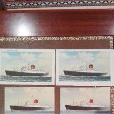 Postales: 2 CARTAS Y 4 POSTALES DEL BARCO SYLVANIA DE CUNARD. Lote 61940176